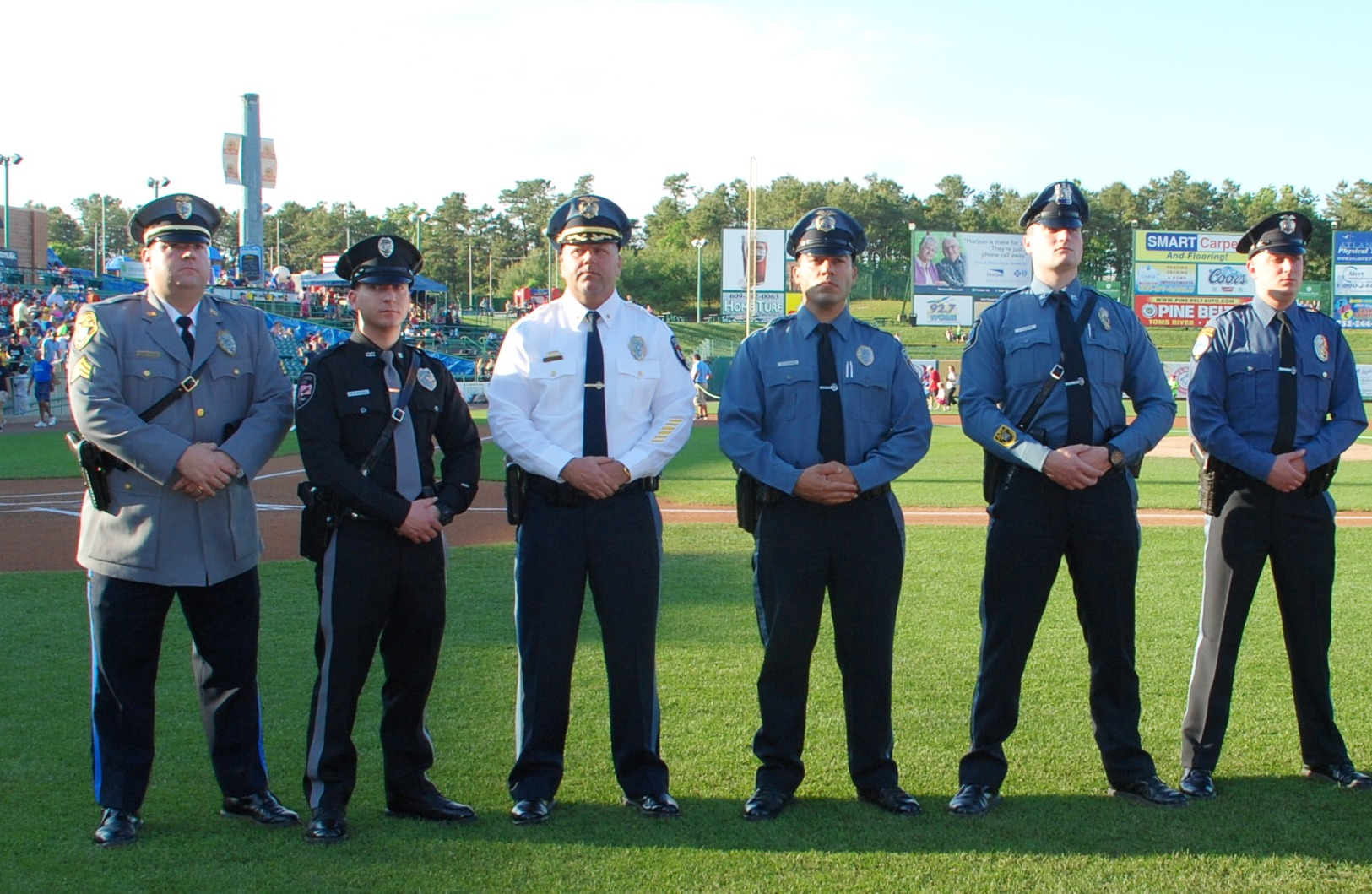 Chief Paprota & Officer Tsarnas at Blue Claws Stadium Awards Ceremony - June 2013