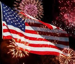 Fireworks Flag Image