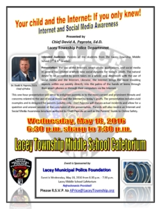 Social Media Presentation Flier - Middle School - May 18 2016